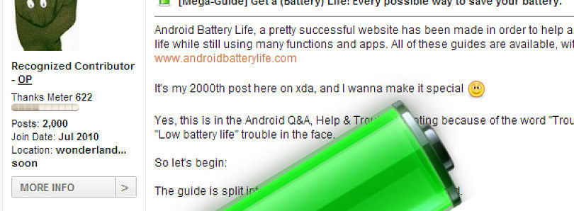 Battery Saving Mega Guide Celebrating User's 2000th Post