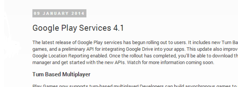 Google Play Services 4.1 Brings Turn-Based Multiplayer, New Drive API, Improved Ads, and Better Google+ Integration