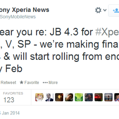 Sony Xperia T, TX, V, and SP to Receive Official Android 4.3 OTA Starting Late This Month