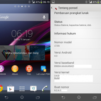 Sony Xperia V Gets Leaked Android 4.3 Firmware Too!