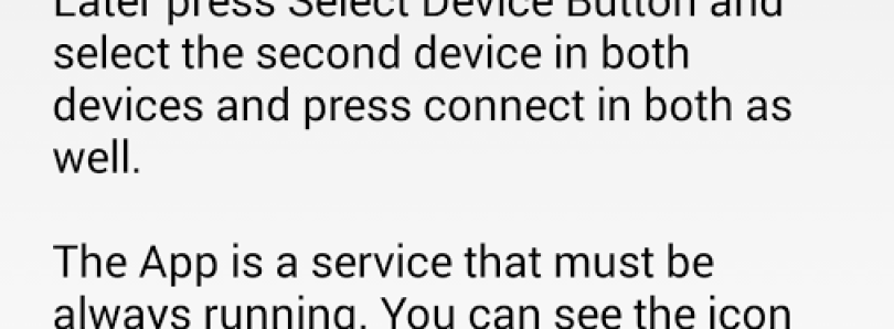 My Second Device Allows to Use Second Device as a Receiver