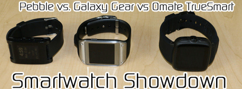 Smartwatch Showdown: Pebble vs Galaxy Gear vs Omate TrueSmart – XDA Developer TV