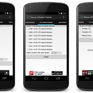 Easily Flash a Hybrid Modem to Gain 4G LTE Connectivity on Your Nexus 4 without a PC