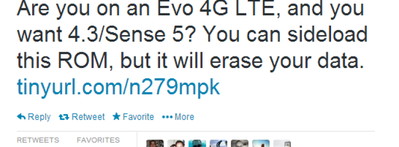 Sprint HTC EVO 4G LTE Finally Receives Official Android 4.3 and Sense 5 Update via RUU!