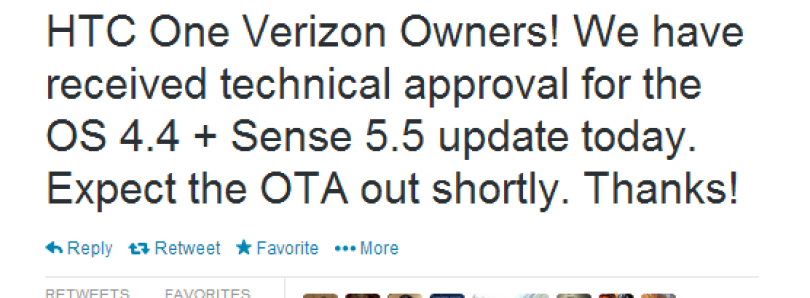 Verizon HTC One Android 4.4 + Sense 5.5 OTA Imminent