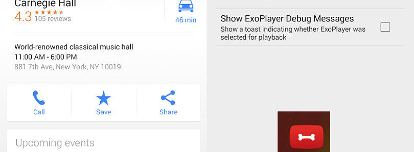 [APK] Google Maps 7.7 Brings Event Data to Places, YouTube Gets Curious New Dog Bone Icon and Developer Settings Menu