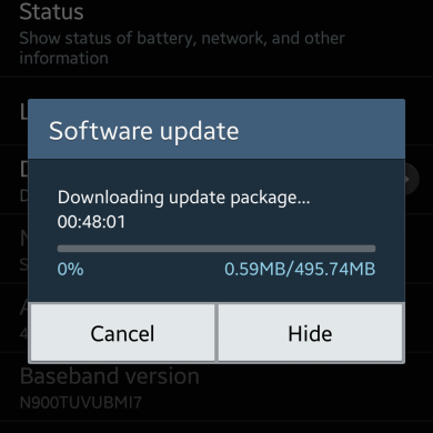 Android 4.4.2 Rolling Out to T-Mobile Galaxy Note 3, OTA Captured