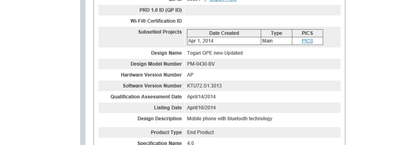 Sony Z Ultra Google Play Edition Receives Bluetooth Certification for Android 4.4.3