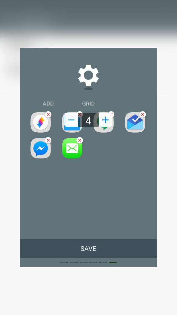 You can change the grid size of the apps layout