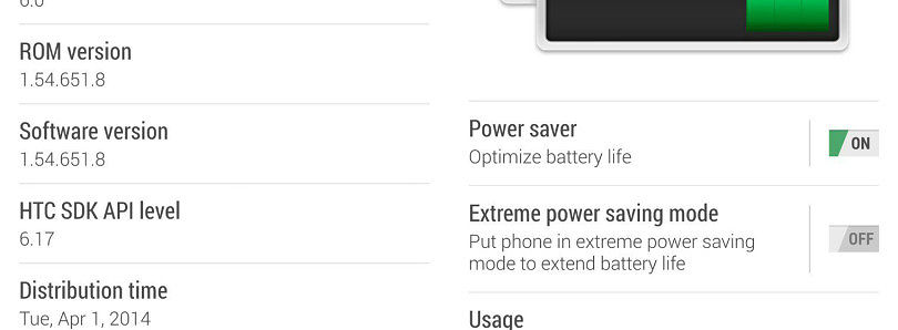 [OTA Captured] Sprint HTC One M8 Receives Update to 1.54.651.8, Gains Extreme Power Saving Mode