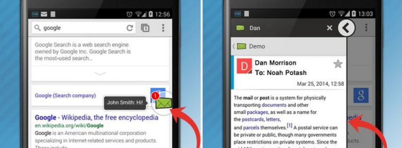 Floating Mail Displays Your Email atop Any Application