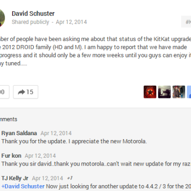 "Motorola Droid RAZR HD and M to Receive KitKat in a ""Few More Weeks"""