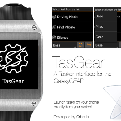 TasGear: A Tasker Extension for the Samsung Galaxy Gear