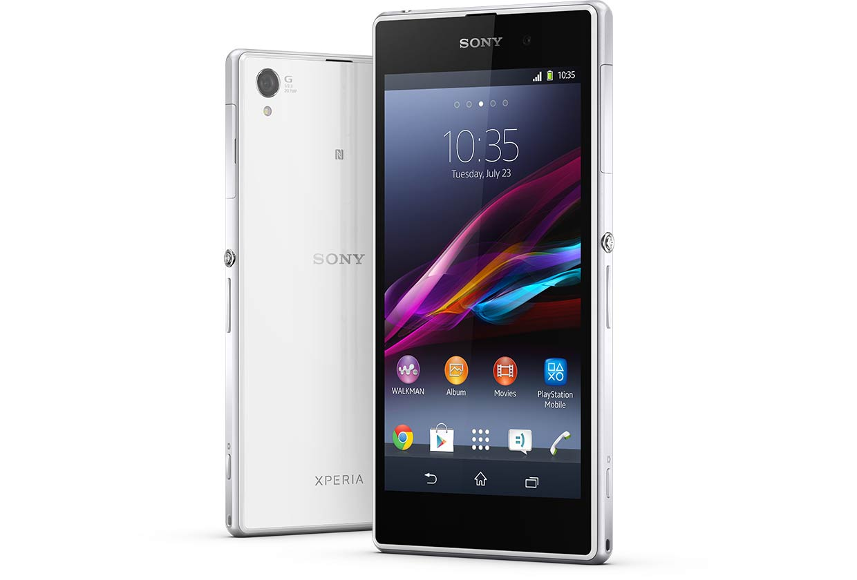 sony xperia z1 white. multiboot in progress for the sony xperia z1 white