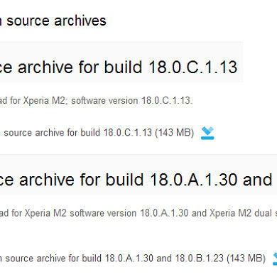 Sony Releases Open Source Kernel Files for the Xperia M2