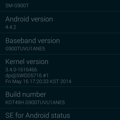 Galaxy S4 LTE Gets Knox 2 and Kids Mode, T-Mobile S5 Gets a Few New Goodies and Bugfixes