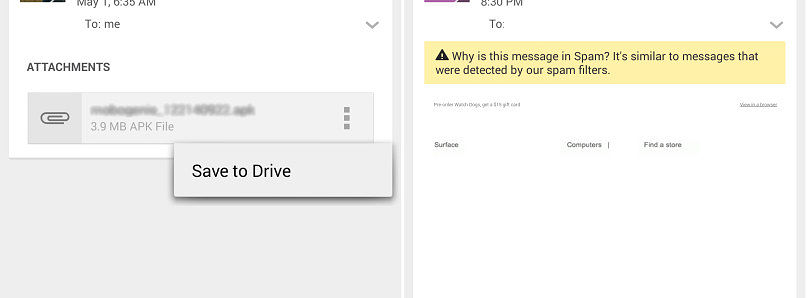 [APK] Gmail 4.8 Can Now Save Attachments Directly to Google Drive