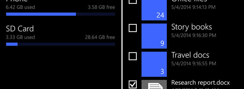 Windows Phone 8.1 Gets an Official File Manager