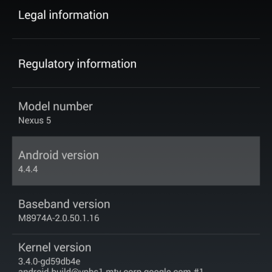 [OTA Captured] Android 4.4.4 KTU84P OTA Now Live for the Nexus 5!