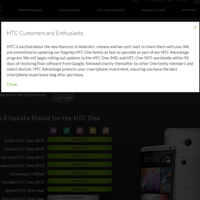 "HTC Commits to Delivering Android ""L"" to M8 and M7 within 90 Days of Release"