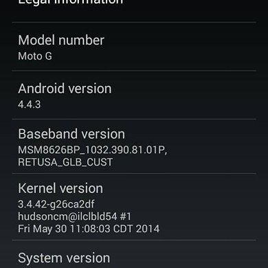 [OTA Captured] Moto G Now Receiving Android 4.4.3 as Well!