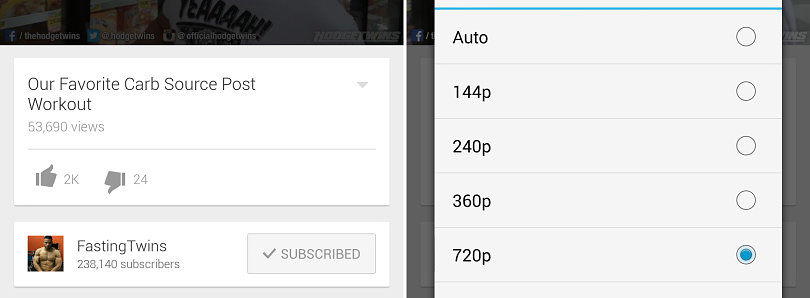 [APK] YouTube 5.7 Finally Lets You Pick Streaming Resolution