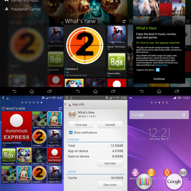 Try the Xperia Z2's What's New App on any Xperia Device
