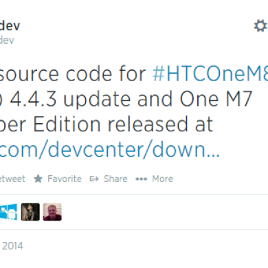 HTC Kernel Source Code for Android 4.4.3 on the M7 Developer Edition and Sprint HTC One M8