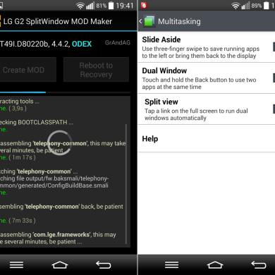 Implement Split View in Your LG G2 KitKat Rom with Automated Installer