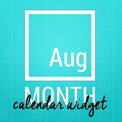 Make Your Calendar Widget Beautiful with Month