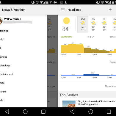 [APK] Google News and Weather Gets Material Design Makeover, Minor Maps Updates