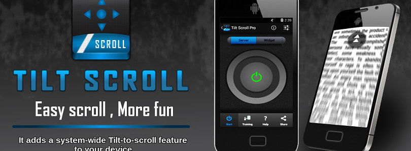 Scroll Your Device by Tilting it with Tilt Scroll