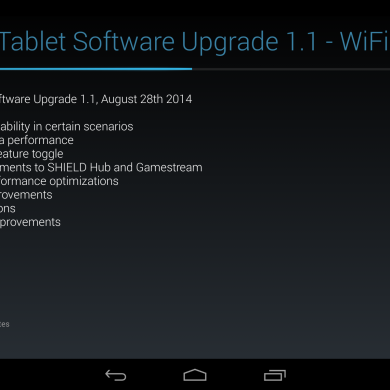 [OTA] Nvidia Shield Tablet Receives its First Update