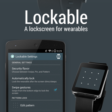 Give Your Android Wear Device a Lock Screen with Lockable