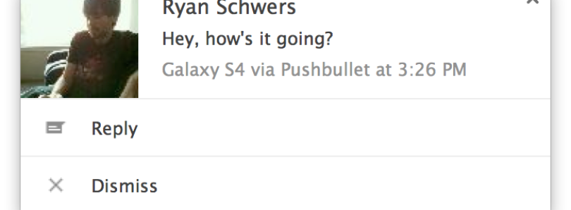 Pushbullet Updated with SMS Send Ability