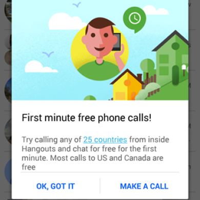 Google Makes One Minute Hangouts Calls Free Until 2015