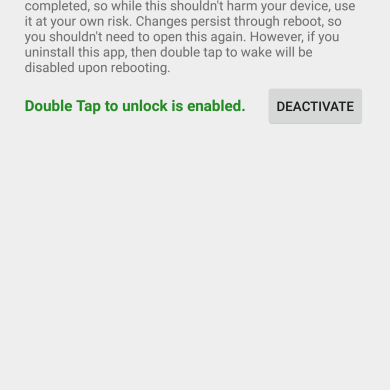 Regain Double Tap to Wake Functionality on the Nexus 6