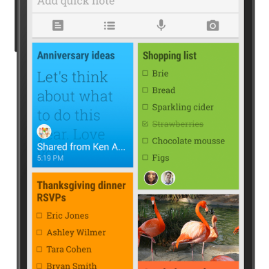 Google Keep 3 Brings Material Design, Sharing Options
