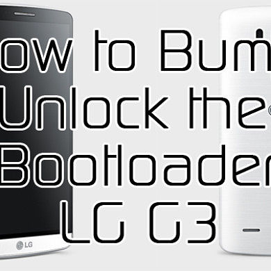 Bump! Workaround for the LG G3 Locked Bootloader – XDA TV