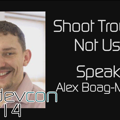 Shoot Troubles, Not Users w/ Alex Boag-Munroe – XDA:DevCon 2014