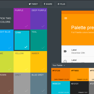 Easily Generate and Export Material Design Palletes