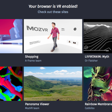 Mozilla Introduces VR API for Web Browsers