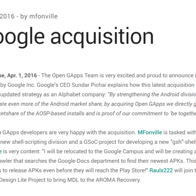 Google has Acquired Open Gapps