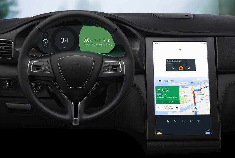 Maserati Ghibli running Android Auto on a Snapdragon SoC
