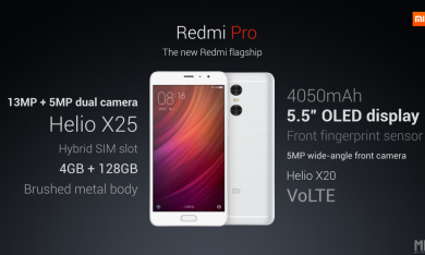 Xiaomi Releases Redmi Pro with Helio X25 and Dual Rear Cameras