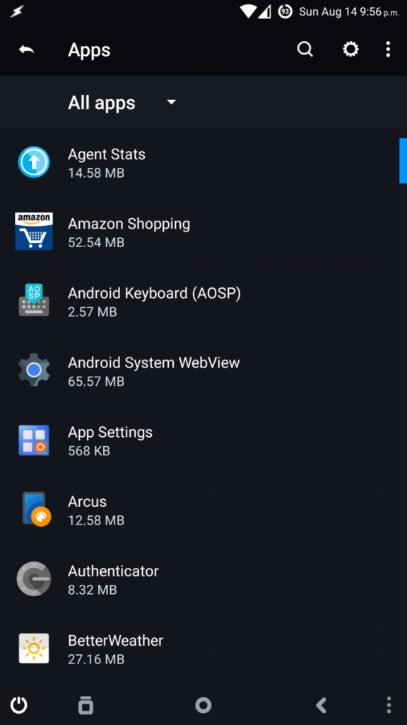 See all installed apps