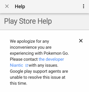 Google Play Apologizes in Advance for Pokemon GO
