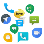 Jumbled Image of Google's Messaging Apps