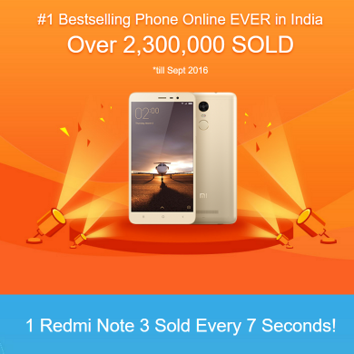 Redmi Note 3 is Now the Best-selling Smartphone in India
