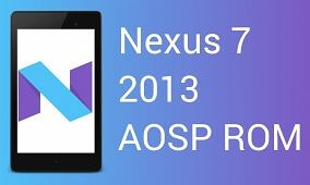 Get Android Nougat on the Nexus 7